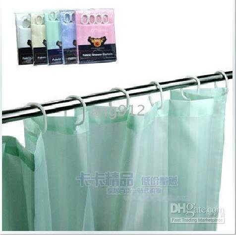 100% Polyester Waterproof Fabric Shower Curtain Mildewproof Bath Curtain ( 180*200cm) Mix Color