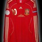 2008 SPAIN HOME FABREGAS 10 EURO 08 LTD LS SHIRT JERSEY # XL