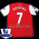 NEW 11-12 ARSENAL HOME ROSICKY 7 PREMIER PATCH SOCCER SHIRT JERSEY