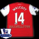 NEW 11-12 ARSENAL HOME WALCOTT 14 PREMIER PATCH SOCCER SHIRT JERSEY