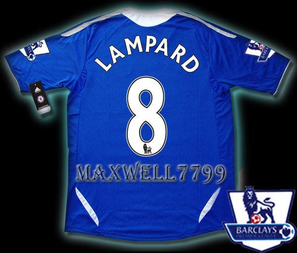 NEW 11-12 CHELSEA HOME LAMPARD 8 PREMIER PATCH SOCCER SHIRT JERSEY