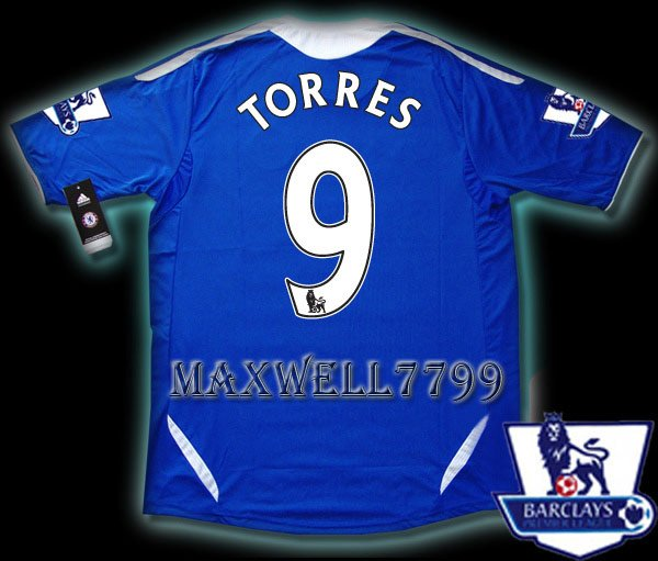 NEW 11-12 CHELSEA HOME TORRES 9 PREMIER PATCH SOCCER SHIRT JERSEY