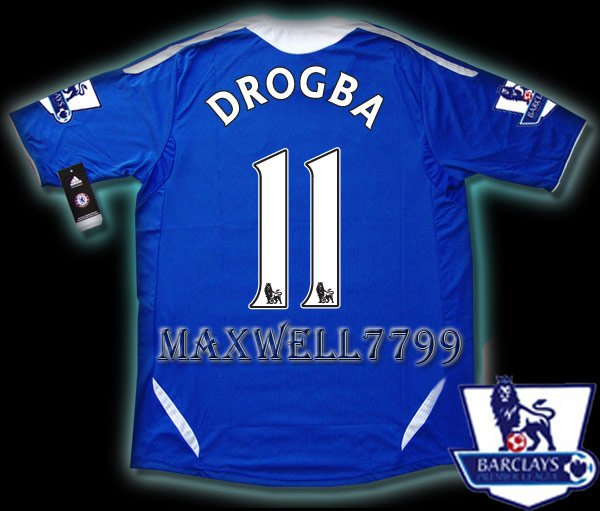 NEW 11-12 CHELSEA HOME DROGBA 11 PREMIER PATCH SOCCER SHIRT JERSEY