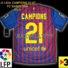 NEW 11-12 BARCELONA HOME CAMPIONS 21 LFP+TV3+DATE PATCH SOCCER SHIRT JERSEY