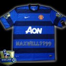 NEW 11-12 MANCHESTER UNITED AWAY BLANK CHAMP PREMIER PATCH SOCCER SHIRT JERSEY
