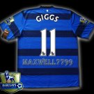 NEW 11-12 MANCHESTER UNITED AWAY GIGGS 11 CHAMP PREMIER PATCH SOCCER SHIRT JERSEY
