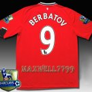 NEW 11-12 MANCHESTER UNITED HOME BERBATOV 9 CHAMP PREMIER PATCH SOCCER SHIRT JERSEY