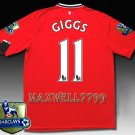 NEW 11-12 MANCHESTER UNITED HOME GIGGS 11 CHAMP PREMIER PATCH SOCCER SHIRT JERSEY