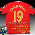 NEW 11-12 MANCHESTER UNITED HOME CHAMPIONS 19 PREMIER PATCH LIMITED SOCCER SHIRT JERSEY