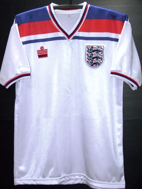 RETRO 1982 ENGLAND HOME WORLD CUP RARE SOCCER SHIRT JERSEY # XL