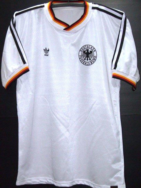 RETRO 1986 GERMANY HOME WORLD CUP NO. 11 RARE SOCCER SHIRT JERSEY # L