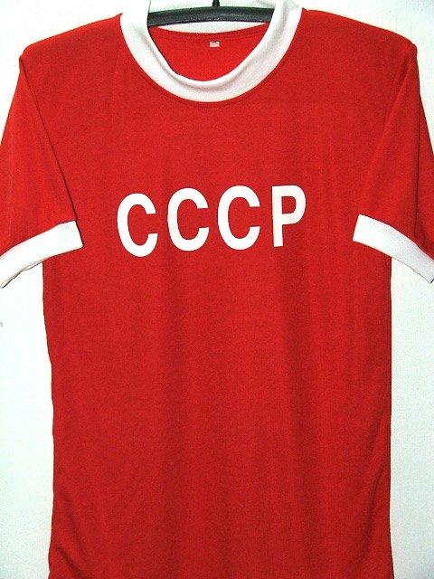 RETRO RUSSIA AWAY WORLD CUP CCCP RARE SOCCER SHIRT JERSEY # M