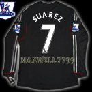 NEW 11-12 LIVERPOOL AWAY SUAREZ 7 PREMIER PATCH LS SOCCER SHIRT JERSEY