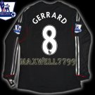NEW 11-12 LIVERPOOL AWAY GERRARD 8 PREMIER PATCH LS SOCCER SHIRT JERSEY
