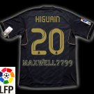 NEW 11-12 REAL MADRID AWAY HIGUAIN 20 LFP PATCH SOCCER SHIRT JERSEY