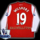 NEW 11-12 ARSENAL HOME WILSHERE 19 PREMIER PATCH SOCCER LS SHIRT JERSEY