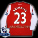 NEW 11-12 ARSENAL HOME ARSHAVIN 23 PREMIER PATCH SOCCER LS SHIRT JERSEY