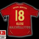 NEW 11-12 BAYERN MUNICH HOME KLOSE 18 BUNDES LIGA PATCH SOCCER SHIRT JERSEY