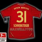 NEW 11-12 BAYERN MUNICH HOME SCHWEINSTEIGER 31 BUNDES LIGA PATCH SOCCER SHIRT JERSEY