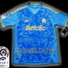 NEW 11-12 OLYMPIQUE MARSEILLE AWAY BLANK LIGUE 1 PATCH SOCCER SHIRT JERSEY