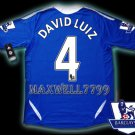 NEW 11-12 CHELSEA HOME DAVID LUIZ 4 PREMIER PATCH SOCCER SHIRT JERSEY