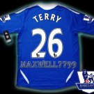 NEW 11-12 CHELSEA HOME TERRY 26 PREMIER PATCH SOCCER SHIRT JERSEY