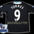 NEW 11-12 CHELSEA AWAY TORRES 9 PREMIER PATCH SOCCER SHIRT JERSEY