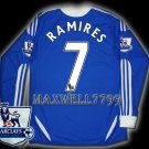NEW 11-12 CHELSEA HOME RAMIRES 7 PREMIER PATCH SOCCER SHIRT LS JERSEY