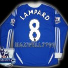 NEW 11-12 CHELSEA HOME LAMPARD 8 PREMIER PATCH SOCCER SHIRT LS JERSEY