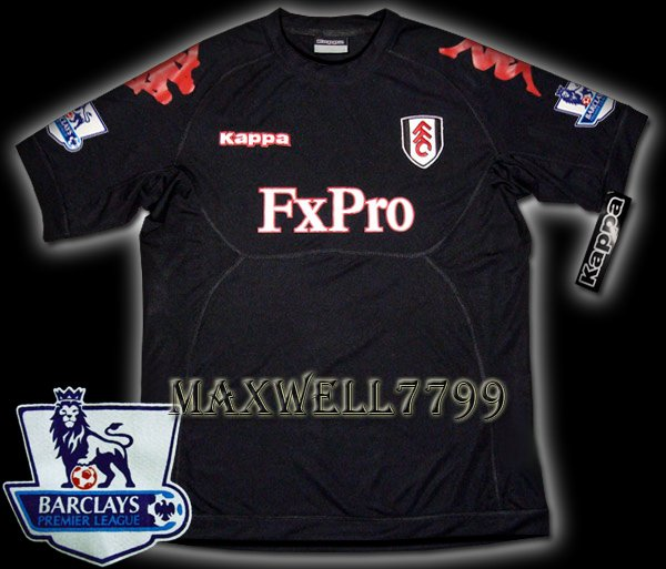 NEW 11-12 FULHAM AWAY BLANK PREMIER PATCH SOCCER SHIRT JERSEY