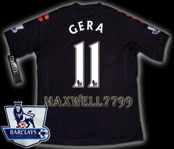 NEW 11-12 FULHAM AWAY GERA 11 PREMIER PATCH SOCCER SHIRT JERSEY
