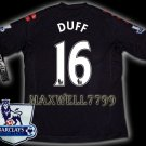 NEW 11-12 FULHAM AWAY DUFF 16 PREMIER PATCH SOCCER SHIRT JERSEY