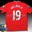 NEW 11-12 MANCHESTER UNITED HOME WELBECK 19 CHAMP PREMIER PATCH SOCCER SHIRT JERSEY