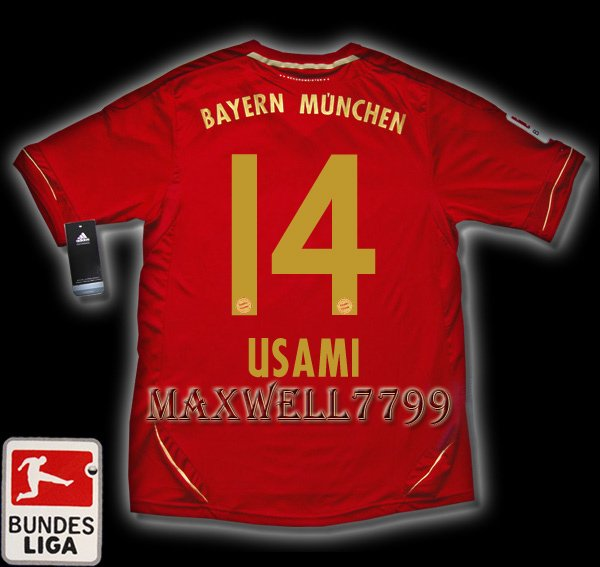 NEW 11-12 BAYERN MUNICH HOME USAMI 14 BUNDES LIGA PATCH SOCCER SHIRT JERSEY