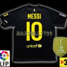 NEW 11-12 BARCELONA AWAY MESSI 10 LFP+TV3 PATCH SOCCER SHIRT JERSEY
