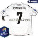 FINAL EURO 2012 GERMANY HOME SCHWEINSTEIGER 7 EURO2012 RESPECT PATCHES SHIRT JERSEY
