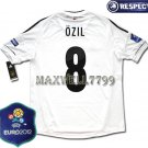 FINAL EURO 2012 GERMANY HOME OZIL 8 EURO2012 RESPECT PATCHES SHIRT JERSEY