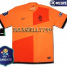 FINAL EURO 2012 HOLLAND HOME BLANK EURO2012 RESPECT PATCHES SHIRT JERSEY