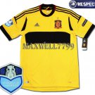 FINAL EURO 2012 SPAIN GOAL KEEPER BLANK CHAMP EURO2008 RESPECT YELLOW SHIRT JERSEY