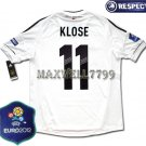 FINAL EURO 2012 GERMANY HOME KLOSE 11 EURO2012 RESPECT PATCHES SHIRT JERSEY