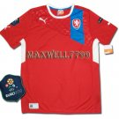 FINAL EURO 2012 CZECH HOME BLANK EURO2012 RESPECT PATCHES SHIRT JERSEY