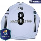 FINAL EURO 2012 GERMANY HOME OZIL 8 EURO2012 RESPECT PATCHES LS SHIRT JERSEY