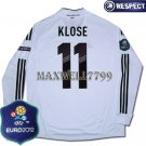 FINAL EURO 2012 GERMANY HOME KLOSE 11 EURO2012 RESPECT PATCHES LS SHIRT JERSEY