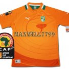 AFRICA CUP 2012 IVORY COAST HOME BLANK CAF PATCHE SHIRT JERSEY