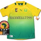 AFRICA CUP 2012 CAMEROON AWAY BLANK CAF PATCHE SHIRT JERSEY