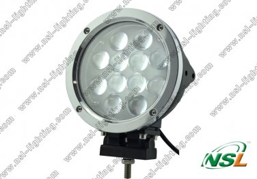 7 ''60w led Offroad light bar 12pce*5w led work light for suv boat industry truck light