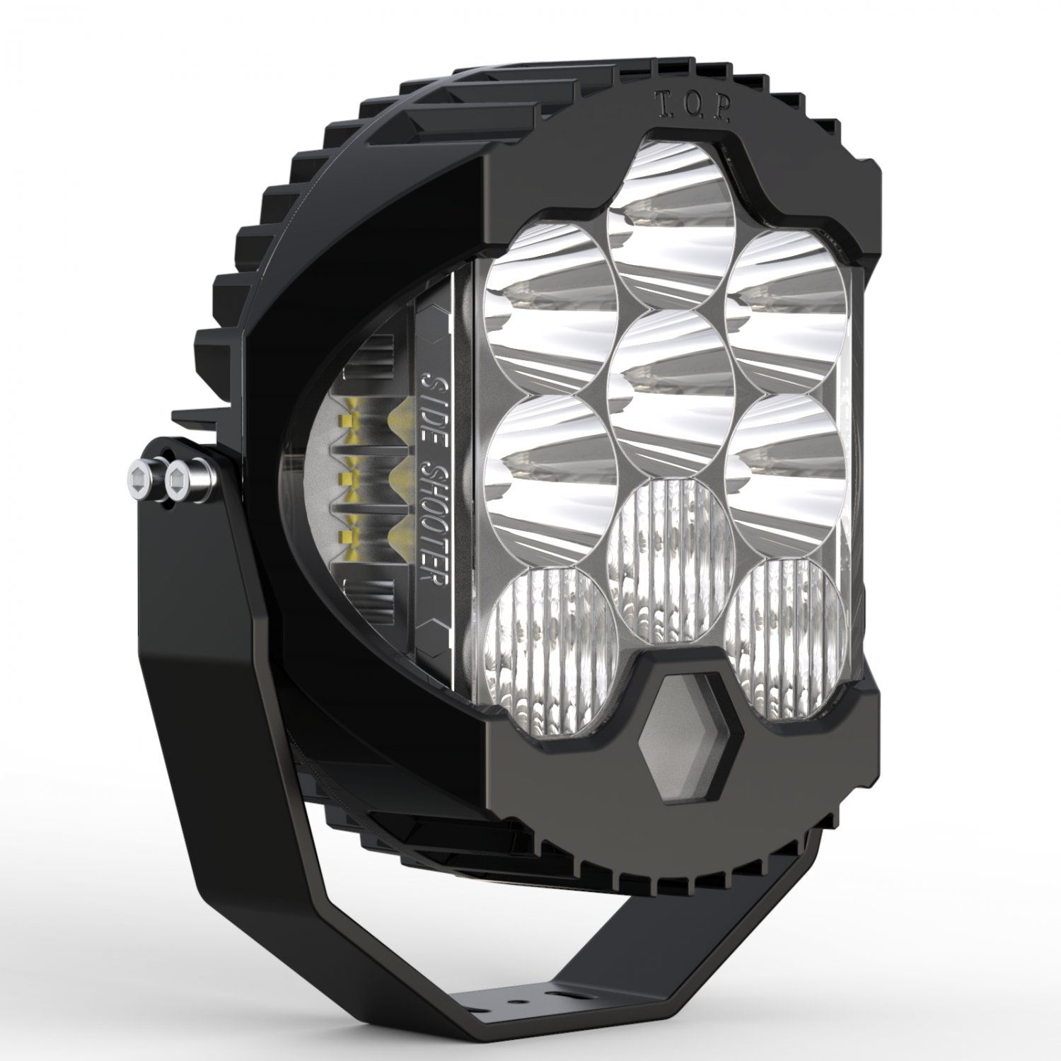 Side Shooter LED Off road Driving light 9 inch bottom DRL high low combo beam