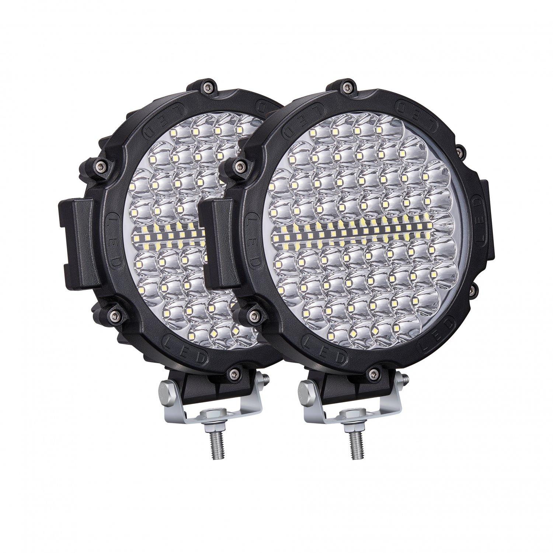2PCS 7 Inch Round LED Off Road Driving Lights 210W 20000LM 24Volt Combo Beam Truck Car SUV ATV 4x4