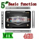 HOT!5''gps with basic functions,ISDB-T,MTK,4GB with 2011 3D Map