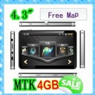 hot in BRAZIL!,4.3'' gps with basic functions,MTK,4GB with 2011 3D Map
